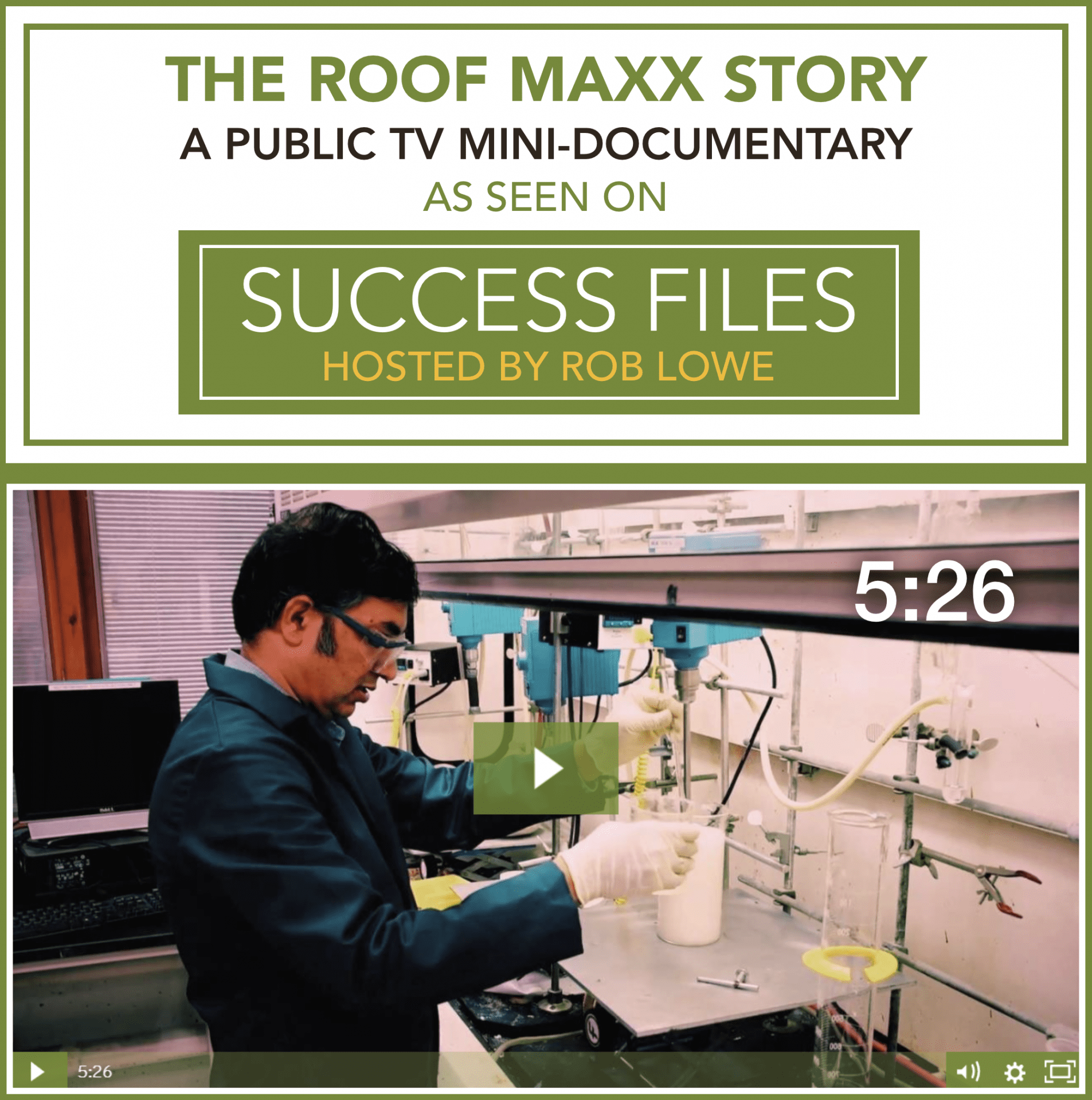 Roof Maxx TV Mini Documentary