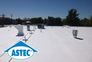 This is a photo of a flat roofing repair project in Western MA.