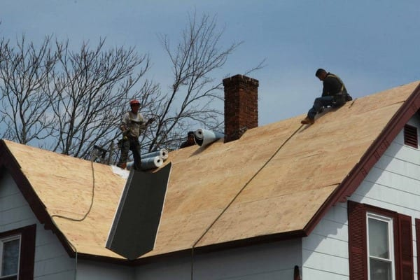 This is a photo of a local roofing construction project.