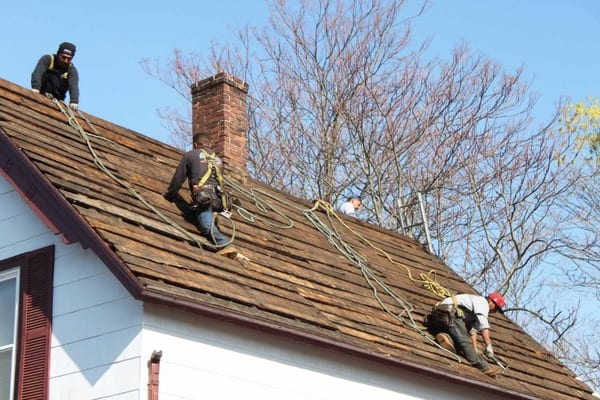 This is a photo of a local roofing replacement project.