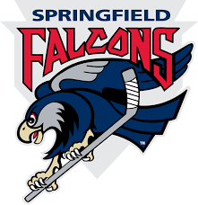 This is a photo of the Community Involvement Springfield Falcons logo.