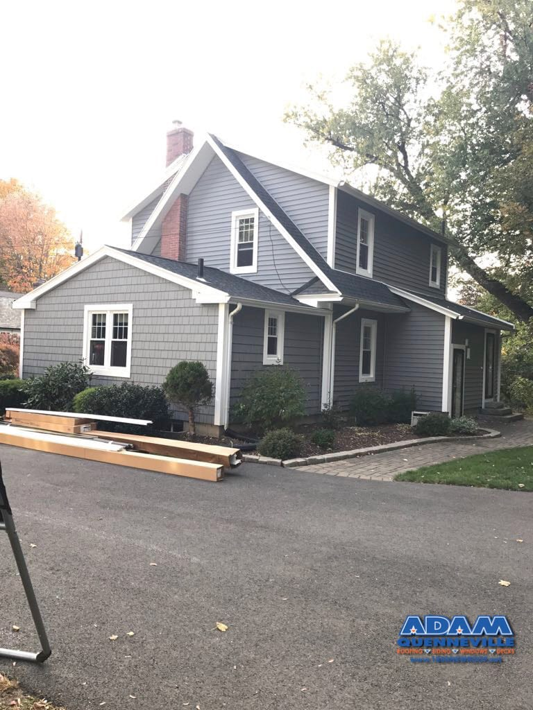 This is a photo of a local roofing and siding replacement project.