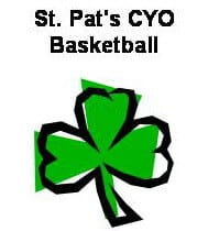 This is a photo of the Community Involvement St. Pats CYO Basketball logo.