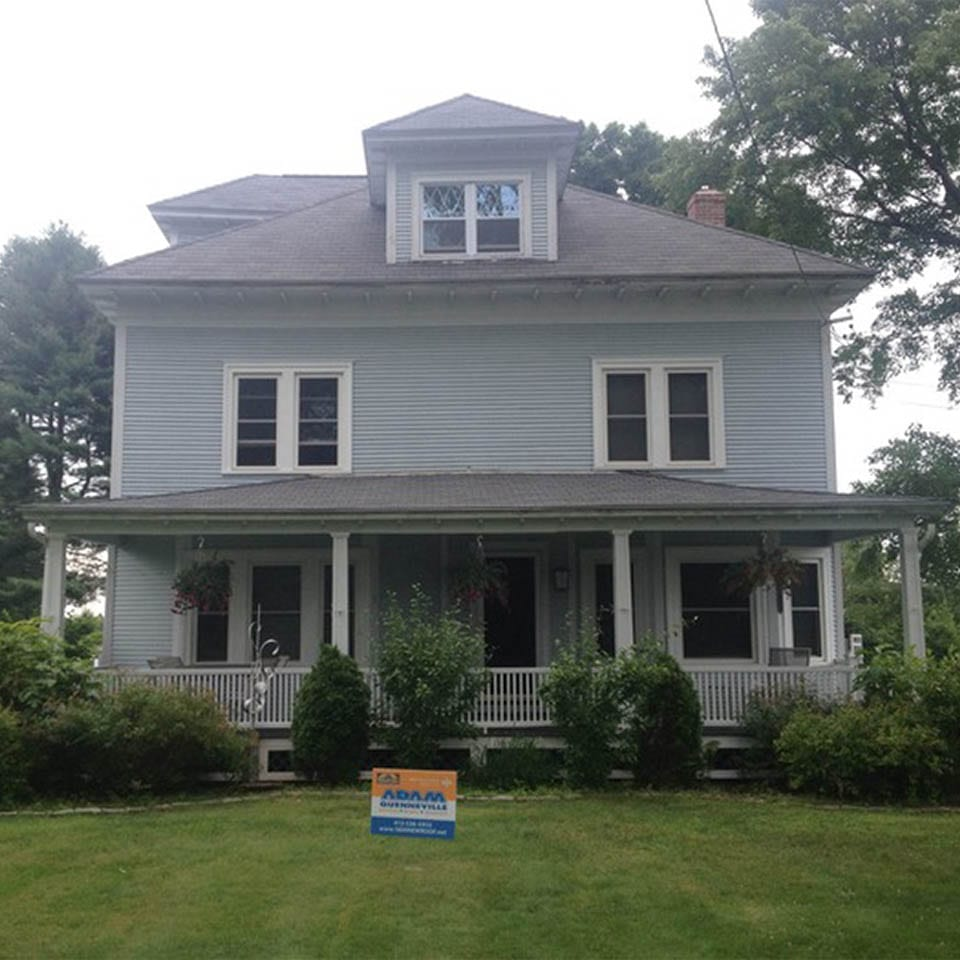 This is a after photo of a roof replacement in West Suffield, MA.