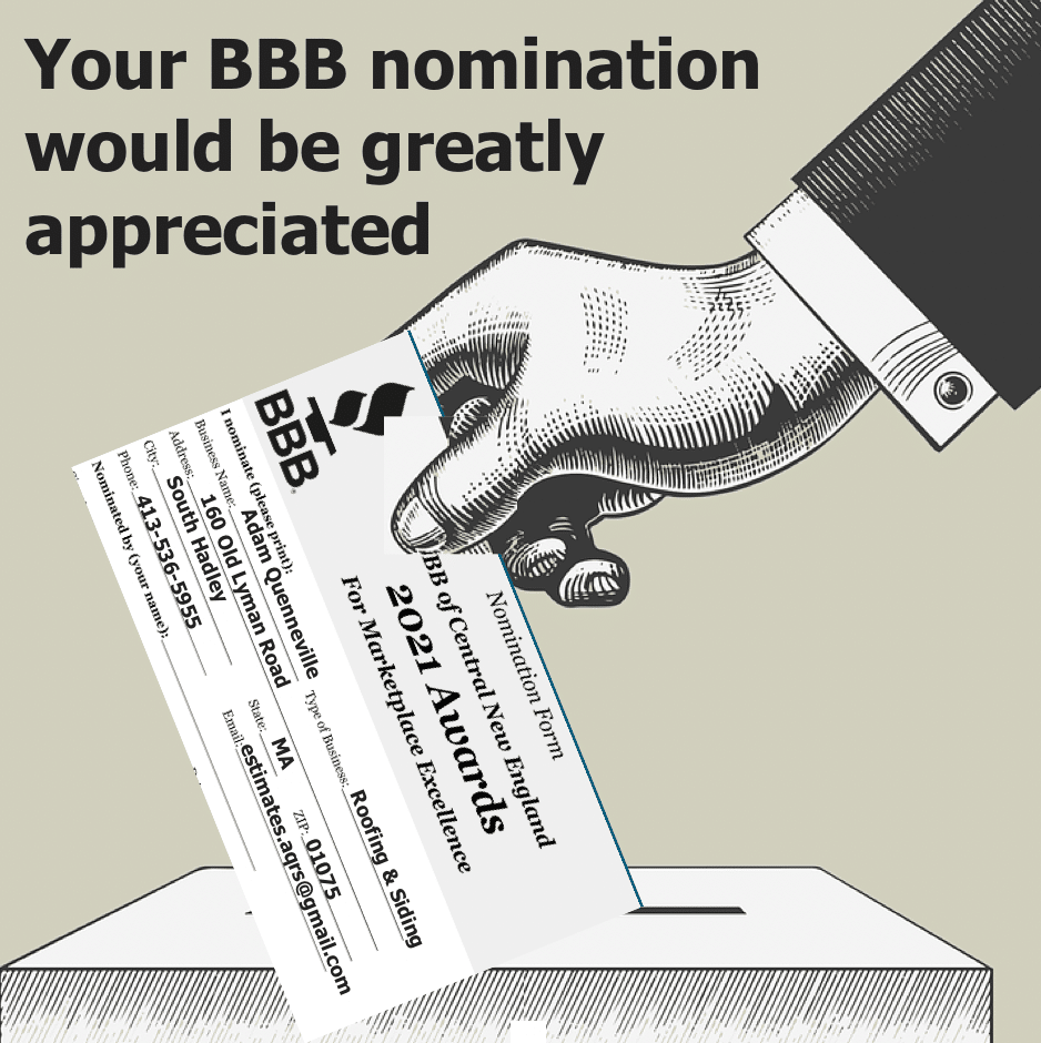 Your BBB nomination would be greatly appreciated